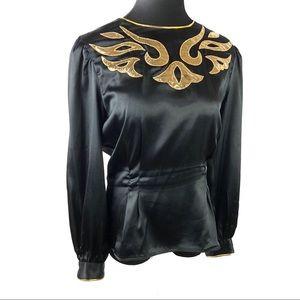Stunning vintage satin blouse